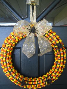 candy corn wreath 2