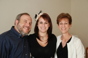 me, mom and dad